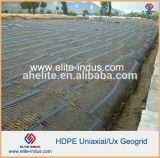 prezzo monoassiale di plastica di Ux Geogrid dell'HDPE di concentrazione di tensionamento 50kn