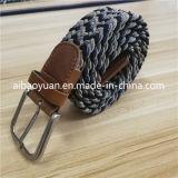 Cinghia elastica lavorata a maglia intrecciata grano alzata nera e grigia
