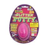تلألؤ سخيفة معجون لعب في بيضة بلاستيكيّة