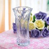 2016 Venta al por mayor cristal hermoso cristal transparente florero para la decoración del hogar