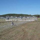 La implementación de la barrera de alambre navaja valla de seguridad