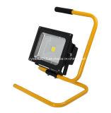 새로운 발광체 5W 10W 옥외 점화 야영 LED 태양 재충전용 투광램프