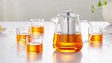 450ml/600ml de miniTheepot van het Glas met de Infusie van het Roestvrij staal