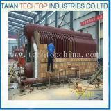 Gerador de vapor despedido da caldeira de vapor da biomassa do cilindro carvão dobro