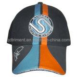 Gorra de béisbol aflautada 100% del bordado del parte movible de la tela cruzada del algodón (TM0920)