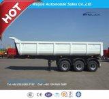 세 배 반 차축 45cbm U 모양 덤프 트럭 트레일러