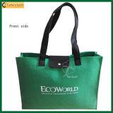 Form-grüne Geschenktote-Beutel-Filz-Einkaufstasche (TP-SP535)