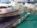 Luz de tira flexible de DC12V 24V 5050 LED el 120LED/M con las tiras dobles de la luz de la fila