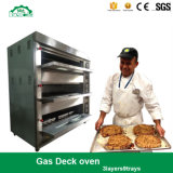 Forno popular da pizza da plataforma do equipamento do cozimento do gás para a padaria com 3decks 9trays