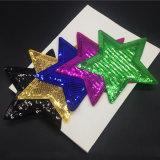 Plancha sobre parche estrellas Sequined parches para las prendas de vestir chaqueta bordada Glitter Jean Badge aplique DIY Patchwork