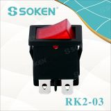 Rk2-03 Dpst Kema Keur Lighting Rocker Switch T85 10A 250VAC