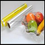 FDA 10 Mic PE van de Omslag van pvc van het Pakket van het Voedsel Verse klampt zich Film vast