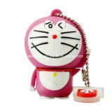 OEM PVC 고양이 USB 기억 장치 지팡이 만화 USB 섬광 드라이브