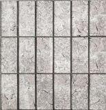 Blanco al por mayor/negro/oro/mosaico gris