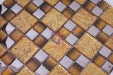 装飾的な壁のガラスタイルの水晶モザイク(TC401)