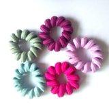 De rubber Plastic Banden van het Haar van het Koord van de Telefoon