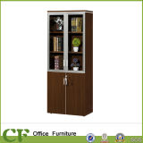 Cabina de almacenaje de cristal de clasificación de la oficina de la puerta del panel de la melamina
