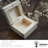 Hongdaoの安いカスタム小さい木の結婚指輪のギフト用の箱のリング包装ボックス_E