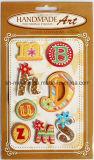 Geschitterde 3D Stickers/Dimensionale Stickers/Met de hand gemaakte Stickers voor Scrapbooking en het Maken van de Kaart