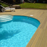 Het ZijDek van het Zwembad WPC, het Dek van het Zwembad