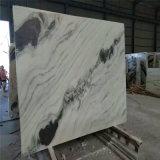 美しいパンダの白い大理石、白くおよび黒いしまのある大理石、水晶白い大理石
