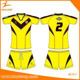 Healongはスポーツ・ウェアによって設計されている染料の昇華ラグビージャージーをカスタマイズした