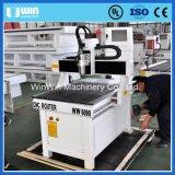 CNC Ww6090 pequeno que cinzela a máquina de gravura de madeira com linha central giratória