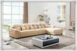 Mobília de sofá de couro de sala de estar de alta qualidade (M221)
