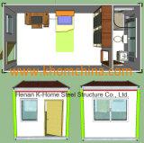 casa viva do recipiente padrão de 20FT Austrália com banheiro