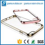 Nieuw galvaniseer het Uiterst dunne Transparante Goedkope Geval van de Dekking van de Telefoon van de Cel TPU voor iPhone 7