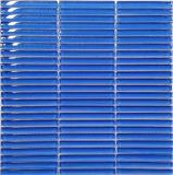 ストリップの青いカラー(PT60)のガラスモザイク・タイル