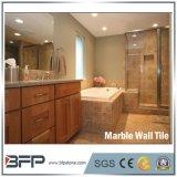 Tuile de marbre intérieure beige crème normale de mur de 100% pour la salle de bains