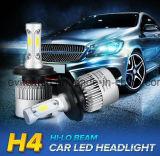 36W 4000lm 6500k H4 S2 COB Car LED Headlight, lâmpada de cabeça LED com ventilador