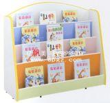 Nursery School Furniture를 위한 Wheels를 가진 나무로 되는 Kids Storage Bookshelf Cabinet