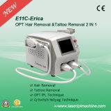 2 em 1 Opt Shr Sistema IPL e interruptor Q ND: YAG Laser E11C