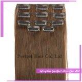 Clip en el pelo humano natural sin procesar del 100% para los afroamericanos