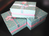 Rectángulo de regalo determinado de la cartulina del PCS de la alta calidad 3 con Bowknot