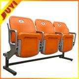 [بلم-4651] كرسي تثبيت بلاستيكيّة لأنّ عمليّة بيع يستعمل ملعب مدرّج مقادات مع معدن ساق أبيض يطوي مقادة زرقاء عامّ