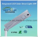 Jardin de la route solaire intégré Rue lumière Liste Pcice 18W