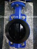 Überzogenes Platten-Oblate-Nylondrosselventil mit Hebel/elektrischem Stellzylinder