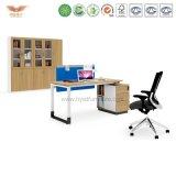 Bureau exécutif en bois de meubles de bureau avec L renvoi de forme (H90-0106)
