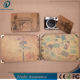 Schwarzes Fertigkeit-Papier-Einklebebuch-Album