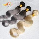 Tessitura dei capelli di colore chiaro di tono dei capelli due di Remy del birmano di 100%