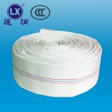 Manichetta antincendio di ingegneria tubo flessibile del PVC del tubo flessibile da 1.5 pollici con la riga blu