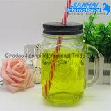Hersteller-Nahrungsmittelgrad-Glasmaurer-Glas mit Griff und Kappe