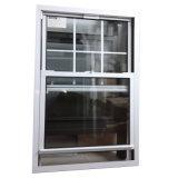 Американский стиль UPVC двойные окна повесил