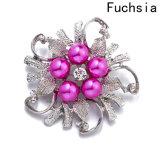 Venta caliente mujer joyas Collar de Hoja de Flor de los pasadores de la mujer Vintage Broches Broches de Perlas de imitación (BR-10)