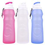 550ml Non-Toxic portable d'étanchéité en silicone souple de bouteille d'eau de voyage