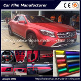 Hot vender hielo cromo mate rojo coche película de vinilo adhesivo de envoltura de 1,52m de ancho