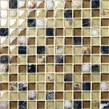 Mosaico fresco di disegno del mare delle coperture di cristallo del mosaico blu